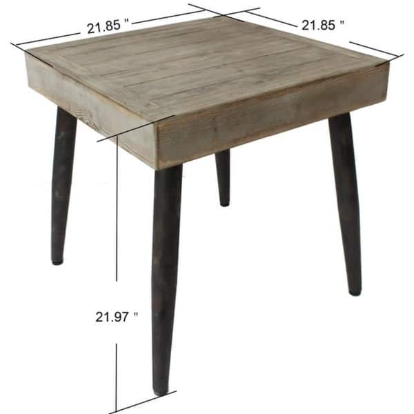Emerald Home Corvalis Modern Rustic Square End Table