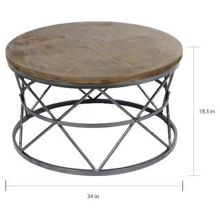 Carbon Loft Watrous Contemporary Round Coffee Table