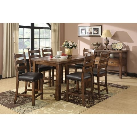 Emerald Home Chambers Creek Rustic Butterfly Leaf Dining Table - Pine Brown