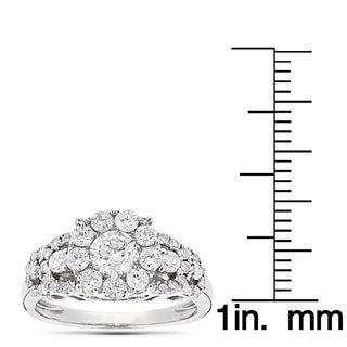 Luxurman 14k Gold 1 5 8ct TDW Diamodn Designer Engagement Ring