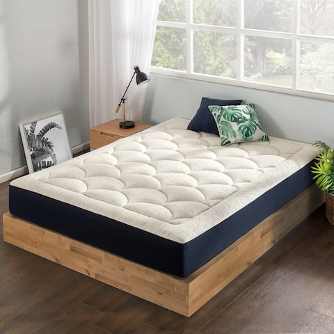 10-Inch Marshmallow Mattress-Plush Memory Foam, Quilted Top, Certified Fabric & Foams- Crown Comfort