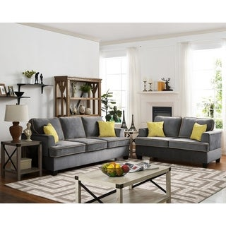 Stecker 2 Piece Living Room Set - Gray