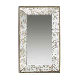 Dorthea 20-inch Gold Rectangular Hanging Mirror