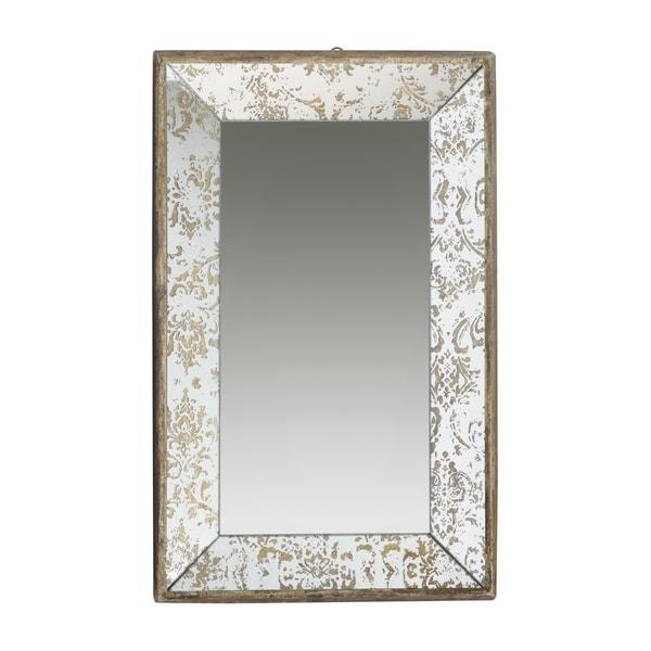 Dorthea 20-inch Gold Rectangular Hanging Mirror