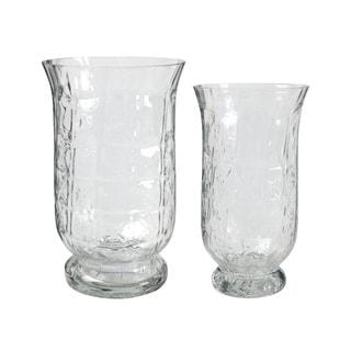 Wallis Clear Glacier Glass Vases (Set of 2)