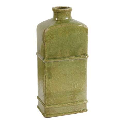 A&B Home Crackled Green 14-inch Vase