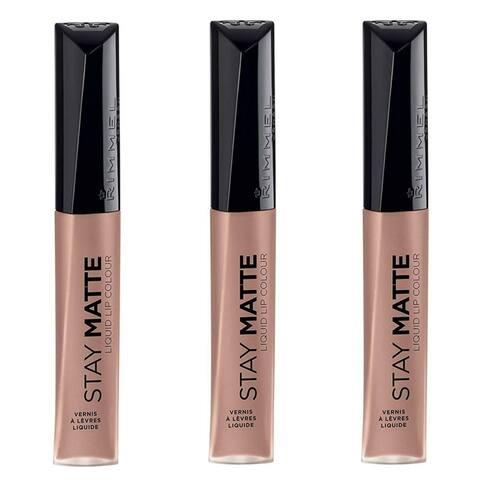 (3 Pack) Rimmel, Stay Matte, Liquid Lip Colour, Vanilla Lovin,0.21 Fl. Oz