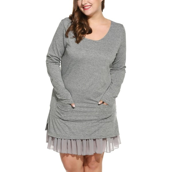 Womens Cold Shoulder Dress with Frill Hem Simply Be
