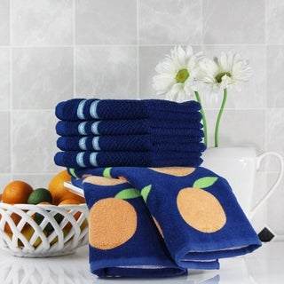 Freshee (6) Piece Kitchen Assortment - (2) Printed Towels, (4) Dishcloths - 100% Cotton