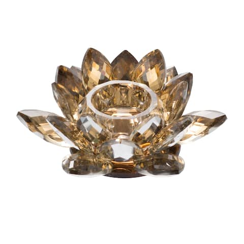 Silver Orchid Arendt Gold 4-inch Lotus Candle Holders