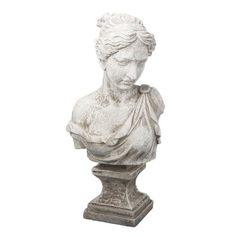 Antique White 22-inch Bust of Women