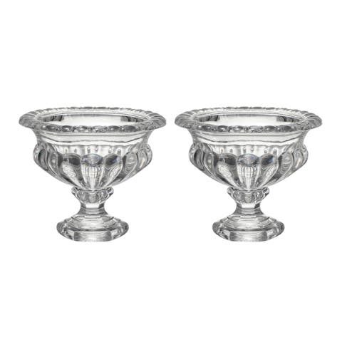 Omari 6-inch Clear Crystal Display Bowl (Set of Two)