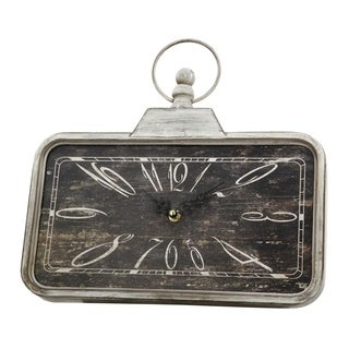 Aged Black and White 13-inch Classic Vintage Clock
