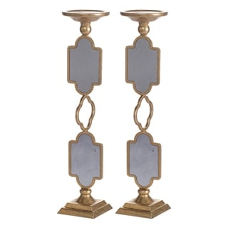Cleo 17-inch Gold Grand Candle Holder (Set of 2)