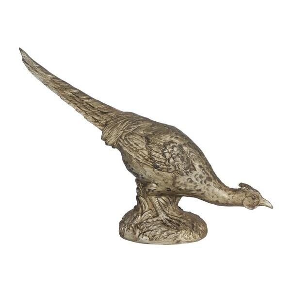 Arturo 14-inch Bronze Grazing Pheasant Accent