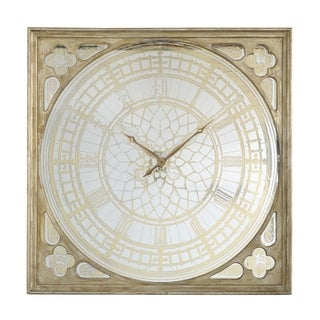 Arria 49-inch Ornate Gold Square Oversized Wall Clock