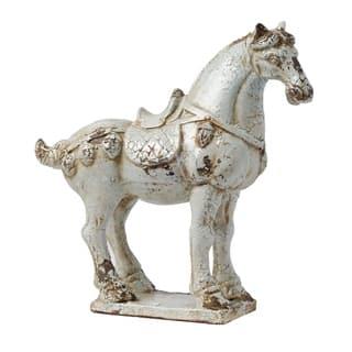 White 15-inch Alexander Warrior Horse Accent