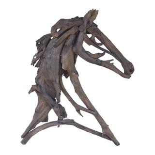 Weathered Teak 39-inch Equus Figure