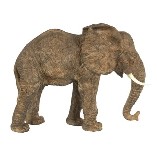 Brown 10-inch Tai Walking Elephant Accent
