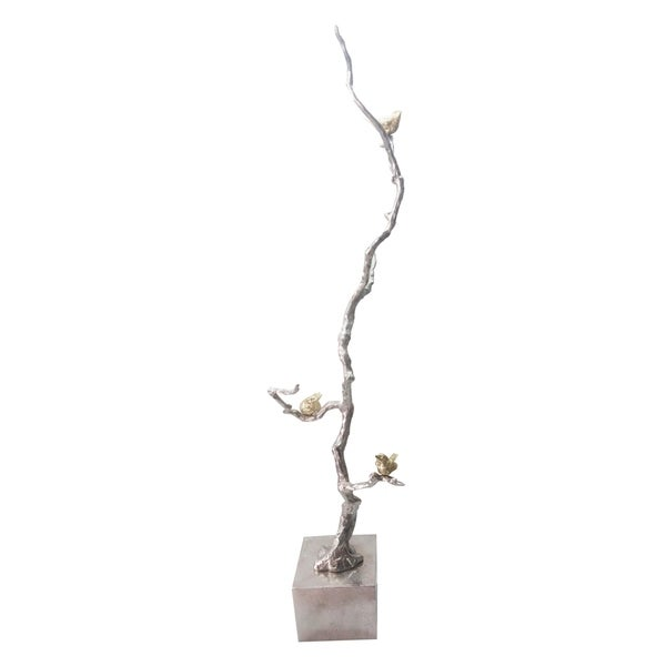 Silver and Gold 37-inch Branch Decor Accent