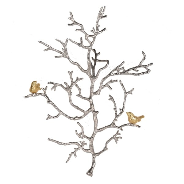 Atelier Branch 22-inch Silver and Gold Wall Sculpture