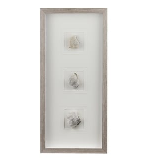 Gray and White 26-inch Stone Wall Art
