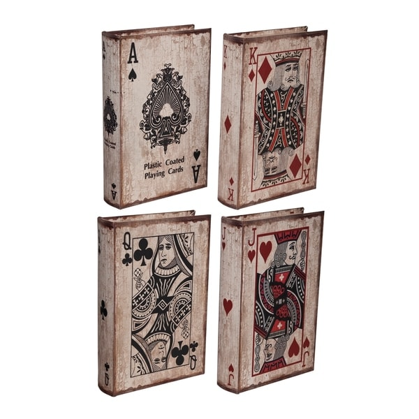 White Wash and Red Ace Playing Cards Book Boxes