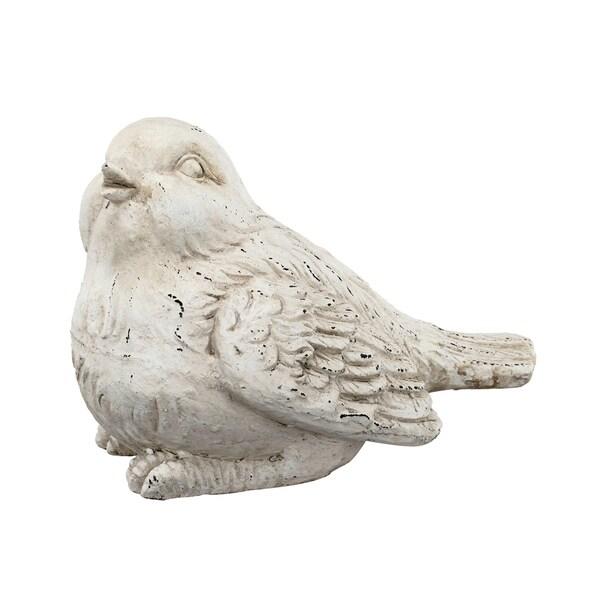 White 11-inch Bird Figurine