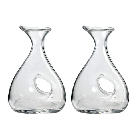 A&B Home Clear 11-inch Wine Decanters (Set of 2)