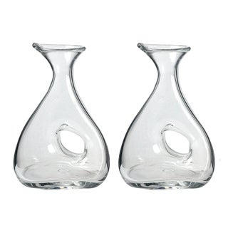 Clear 11-inch Wine Decanters (Set of 2)