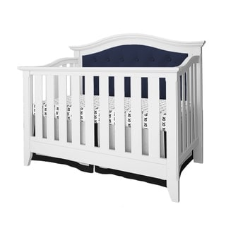 Magnolia Upholstered 4-in-1 Convertible Crib- White/Navy