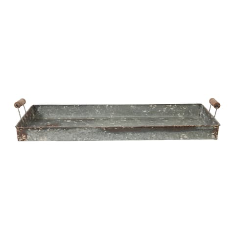 Roux 4-inch Iron and Rust Handled Tray