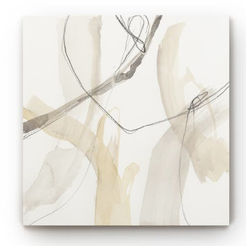Neutral Momentum I -Gallery Wrapped Canvas