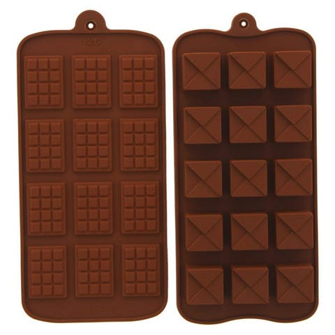 2PC Silicone Baking Molds Heat Resistant for Chocolate Ice Cube Cake Decoration