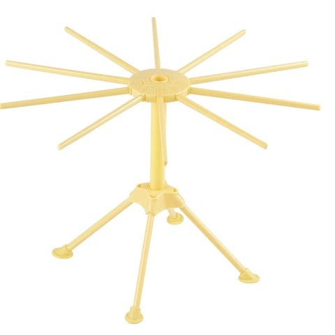 Collapsible 10-Bar Noodle Pasta Drying Rack Easy Assembly Pasta-Making Tool