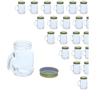 Link to 48x Mini Clear Mason Jars Set with Gold Lids for Spices Honey Jam Baby Food, 4oz Similar Items in Glasses & Barware