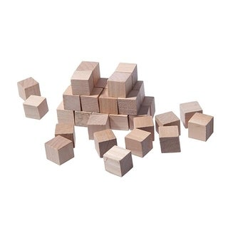 """36 Pcs Small Plain Wooden Cubes, Wood Square Blocks for Crafts and DIY, 0.5"""""""