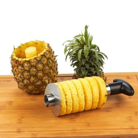 Stainless Steel Pineapple Tool Corer Slicer Cutter De-Corer Peeler Stem Remover