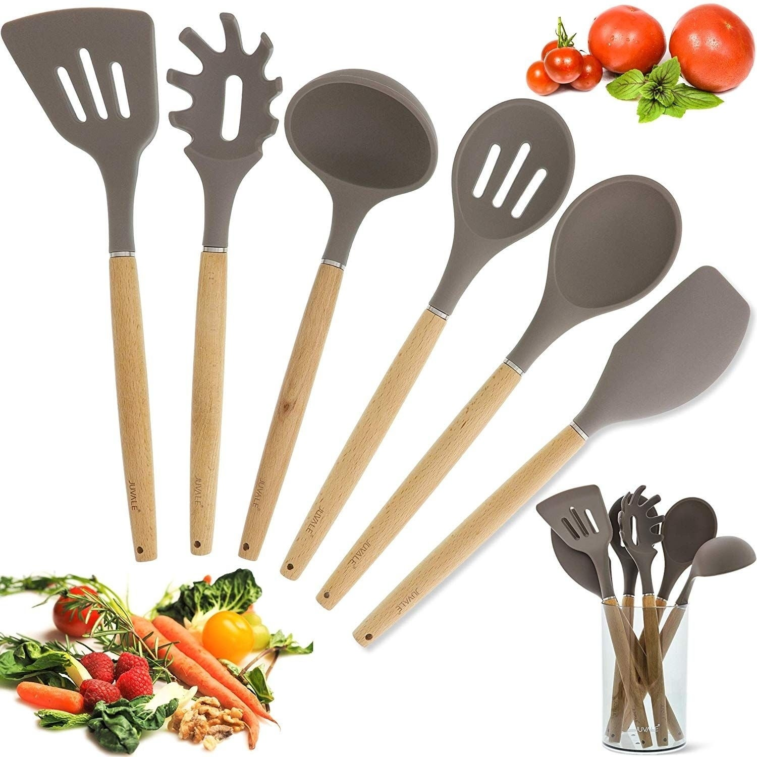 Kitchen Utensils Set of 6 w// Spatula Ladle Turner Spoon Spaghetti Server /& More