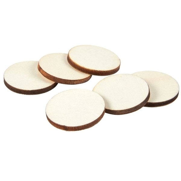 Unfinished Wood Slices 100-Count Round Natural Rustic Wood Circles Home DecorCenterpieces 0.5-inch Diameter Wooden Log Slices for DIY Craft 0.1 inch Thick Wedding Decoration