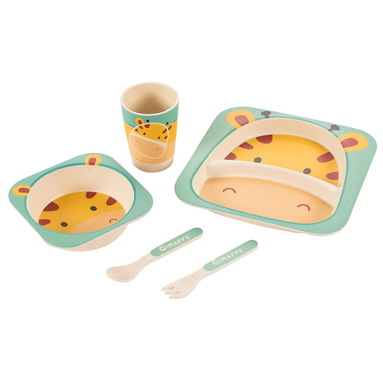 BPA-Free Spoons, Forks and Knives - Reusable Cuddly Hippo Kids Plastic Dinnerware Set of 18 Multi Color Flatware Dishwasher Safe and Microwaveable