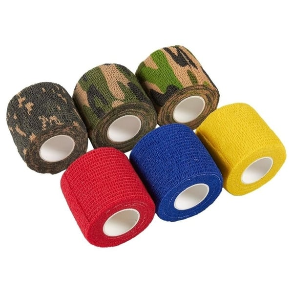 Medical Tape for Sports Self Adhesive Elastic Bandage 12 Pack Camouflage Color