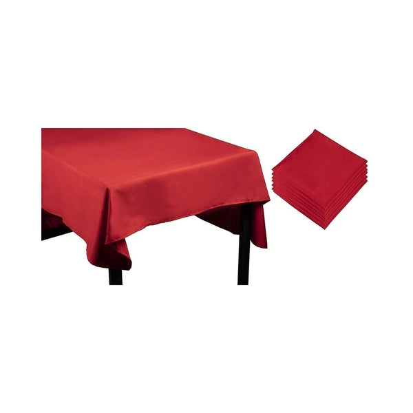 "Shop 60 x 102"" Red Poly Rectangle Tablecloth Long Picnic ..."