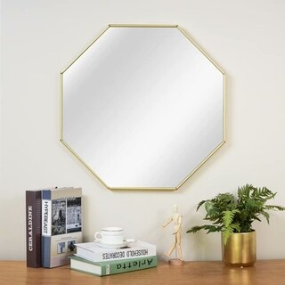 Modern Amluminum Alloy Octangle Decorative Wall Mounted Mirror - 23.62x23.62