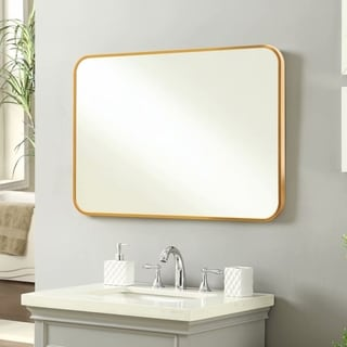 Carson Carrington Salmijarvi Aluminum Alloy Thin Frame Wall Mirror