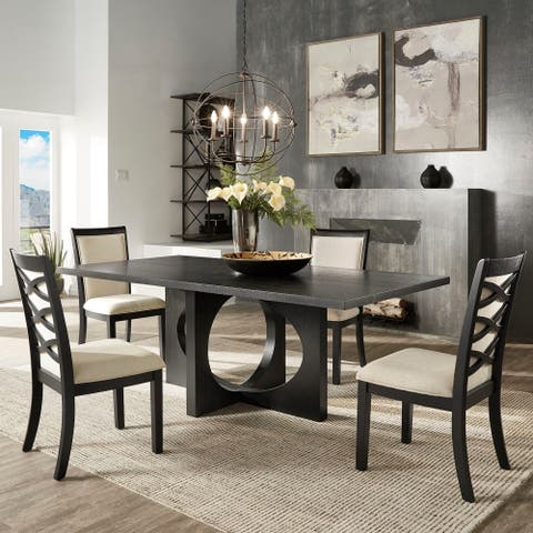 Laxman Satin Ebony Dining Set by iNSPIRE Q Modern