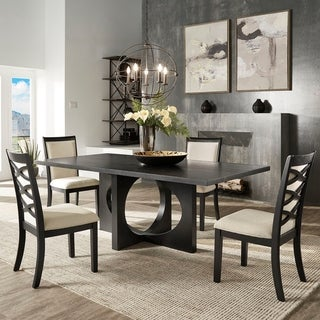 Laxman Satin Ebony Dining Set by iNSPIRE Q Modern