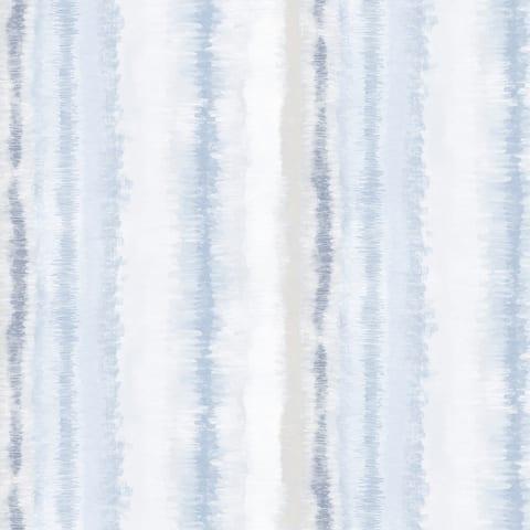 Frequency Stripe Wallpaper in Grey, Blue & Beige