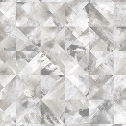Mosaic Wallpaper in shades of Grey