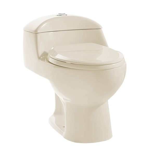 Chateau One Piece Elongated Dual Flush Toilet In Bisque 0.8/1.28 gpf